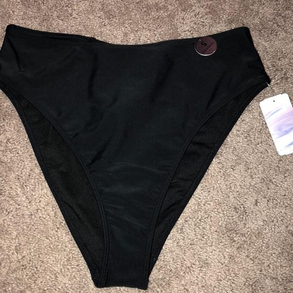 daaf251d18 Black High Waisted swim bottoms